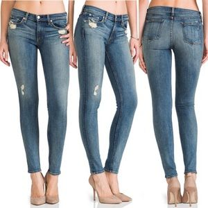 Rag & Bone The Skinny jean in Destroyed wash sz 29